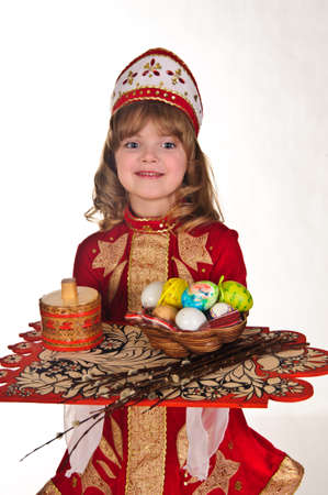 Little Girl with Easter eggs Stock Photo - 8907944