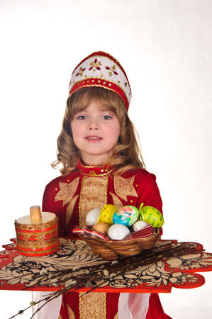 Little Girl with Easter eggs Stock Photo - 8907885