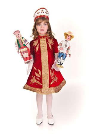 Russisch meisje in nationale klederdracht Stockfoto - 8907863