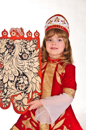 Russian girl in national dress photo