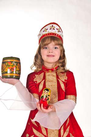 Russian girl in national dress photo