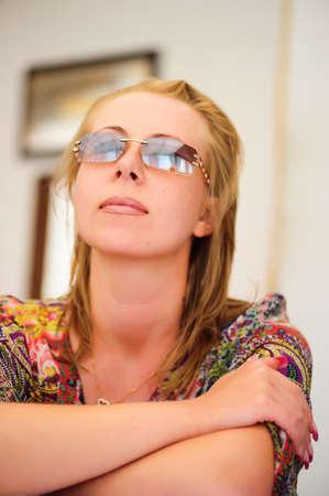 woman wearing glasses Stock Photo - 9216015