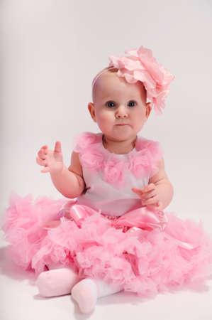 girl in full growth: Beautiful baby girl
