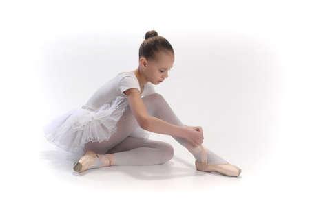 zapatillas ballet: Bailarina poco Foto de archivo