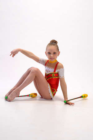 gymnast with mace Stock Photo - 9081144