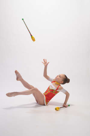 gymnast with mace Stock Photo - 9081147