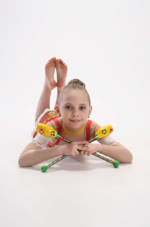 Rhythmic gymnastics Stock Photo - 9081154