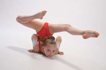 female gymnast: Rhythmic gymnastics