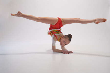 gymnastics girl: Rhythmic gymnastics