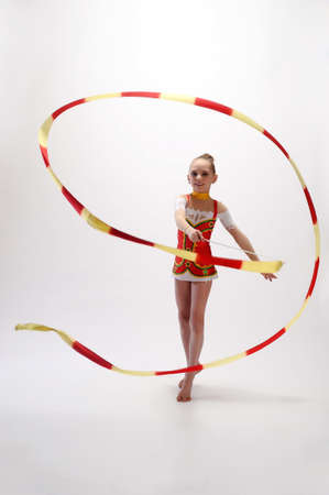 leotard: Rhythmic gymnastic Stock Photo