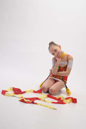 gymnast with mace Stock Photo - 9081151