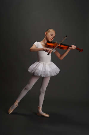 dexterity: Young girl with violin