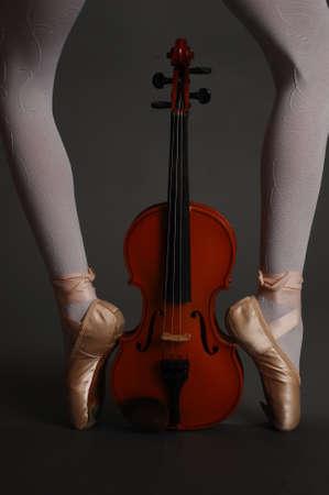 pointes and violin photo