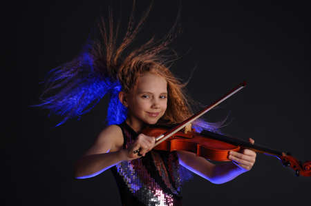 young violinist Stock Photo - 9079570