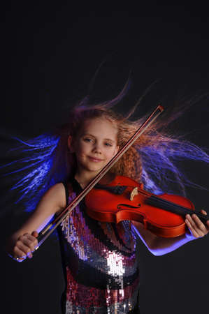 young violinist Stock Photo - 9079628
