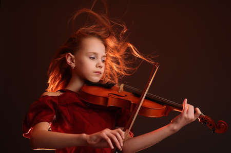 young violinist Stock Photo - 9079625