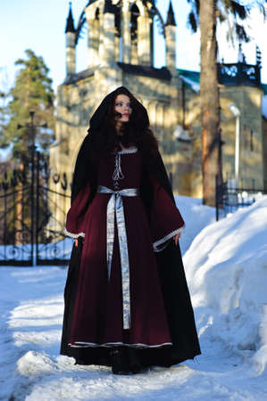 fancy dress costume: girl in medieval dress
