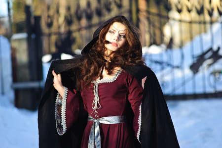 vestido medieval: chica vestido medieval