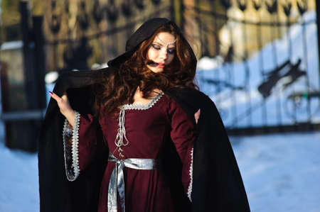 middeleeuwse jurk: meisje in middeleeuwse jurk