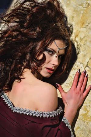 girl in medieval dress