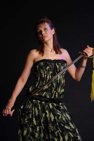 girl with sword Stock Photo - 9238471