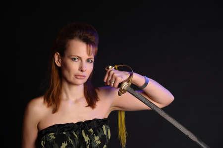girl with sword Stock Photo - 9238467