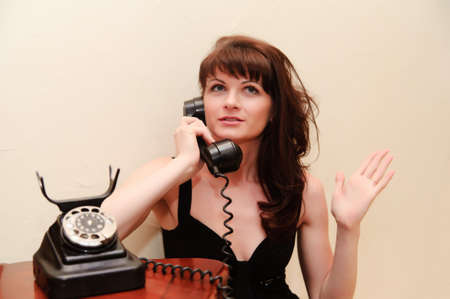 Housewife With TELEPHONE Stock Photo - 9216229