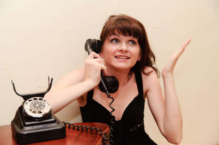 Housewife With TELEPHONE Stock Photo - 9216227