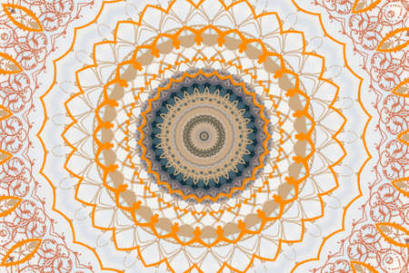 orange circular ornament photo