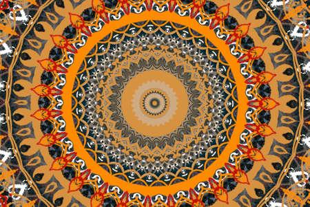 orange circular ornament Stock Photo - 9723282