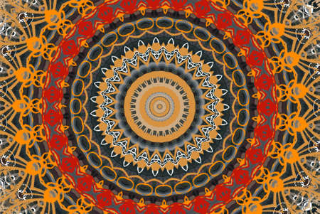 orange circular ornament Stock Photo - 9723283