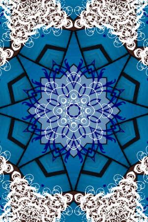 blue oriental ornament Stock Photo - 9187904