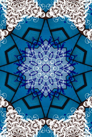 d       cor: blue oriental ornament