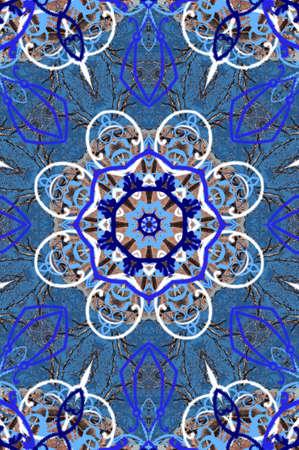 uzbekistan: blue oriental ornament