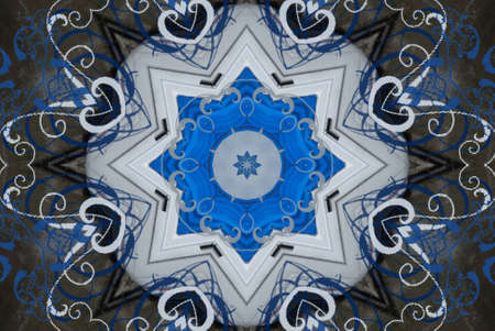 architecture alphabet: blue oriental ornament