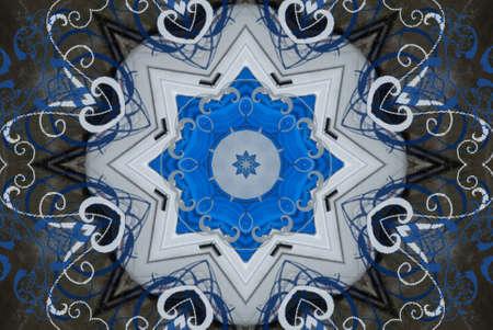 blue oriental ornament Stock Photo - 9187894
