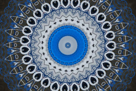 blue oriental ornament photo