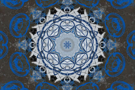 blue oriental ornament Stock Photo - 9187895