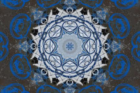 blue oriental ornament photo