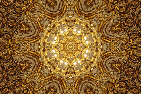 golden circular pattern photo