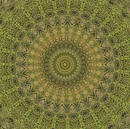 crop circle: Mosaic Patterns Green Tiles Stock Photo