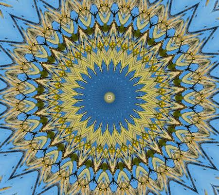 mosaic of green and blue 版權商用圖片