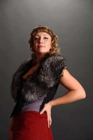 portrait of a beautiful stylish woman photo