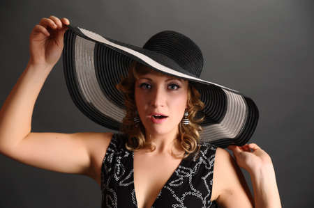 pin up girl in a hat Stock Photo - 9266810