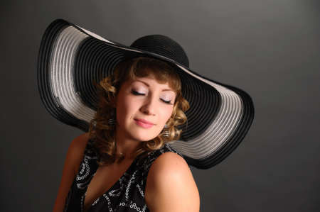 pin up girl in a hat Stock Photo - 9266805
