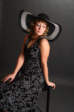 pin up girl in a hat photo