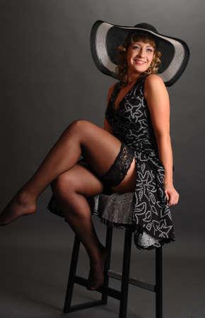 Girl in stockings Stock Photo - 9399686