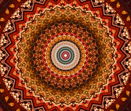 brown mosaic pattern photo