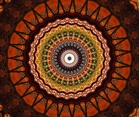 brown mosaic pattern
