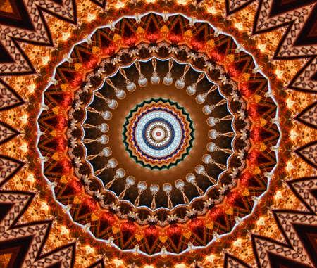 brown mosaic pattern photo